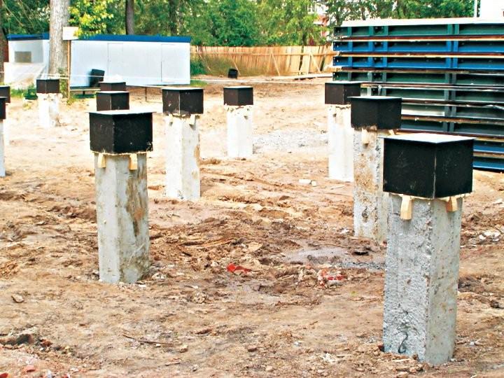 Установка бетонных свай своими руками